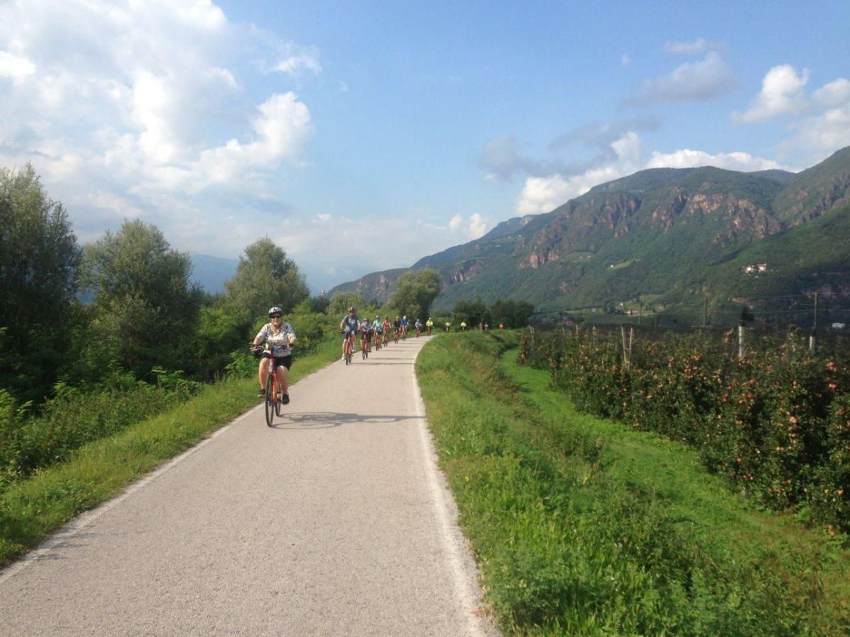 Radfahren im Herbst in Südtirol